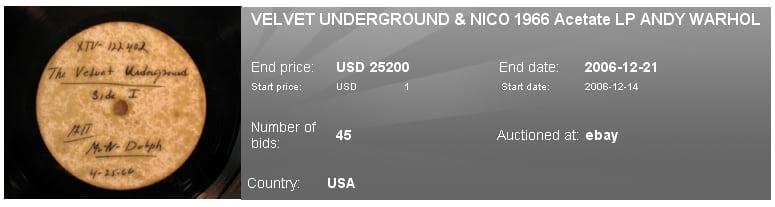 Vinili Rari - Velvet Underground